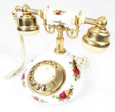 A Royal Albert Old Country Roses telephone
