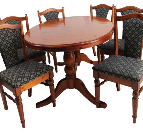 A Ducal pine D-end extending dining table