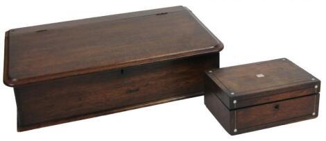 A late 19thC mahogany clerk's box