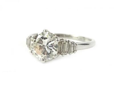 A platinum diamond ring