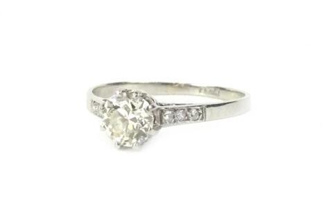 A platinum diamond dress ring