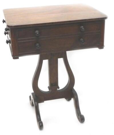 A William IV mahogany work table