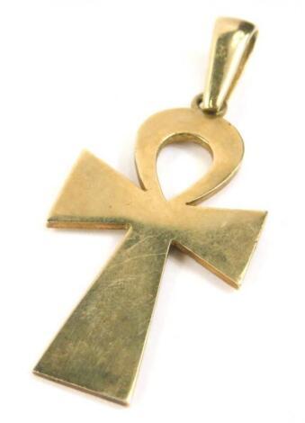 A 9ct gold Ankh Cross pendant