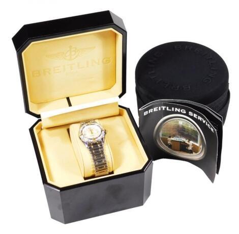 A ladies Breitling quartz wristwatch