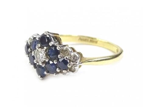 An 18ct gold cluster ring