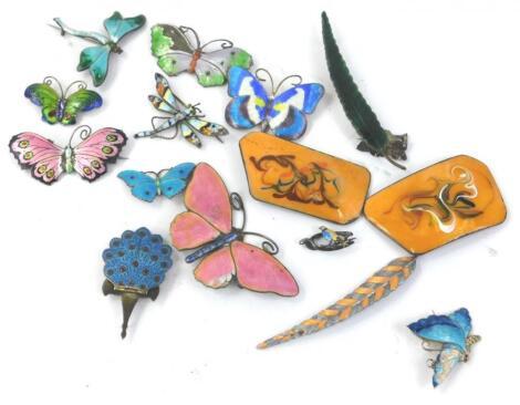 Various enamel set jewellery