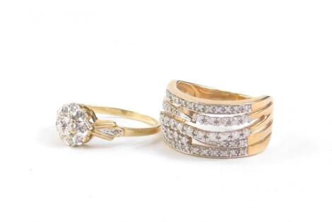 Two 9ct gold dress rings