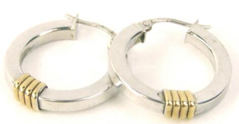 A pair of hoop earrings