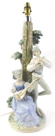 A Nao porcelain lamp base