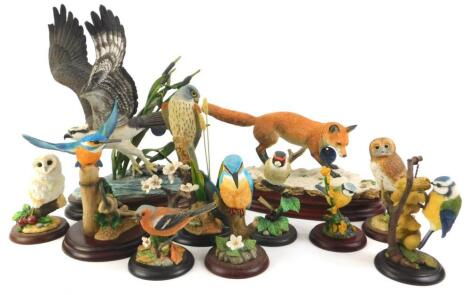 A collection of Border Fine Arts figurines
