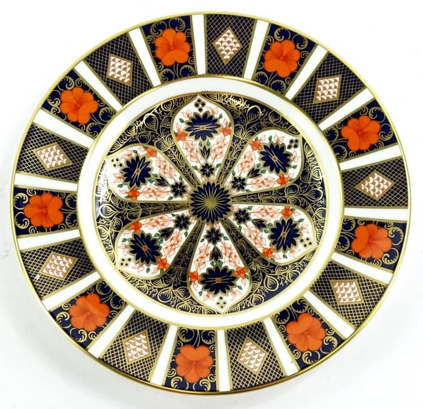 A Royal Crown Derby 1128 Imari pattern plate, printed marks in red