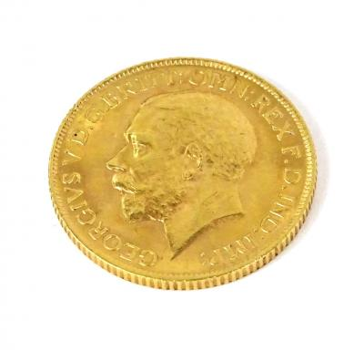 A George V full gold sovereign, dated 1912.
