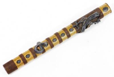A fine and rare Japanese ken tanto with dragon mounts. - 6
