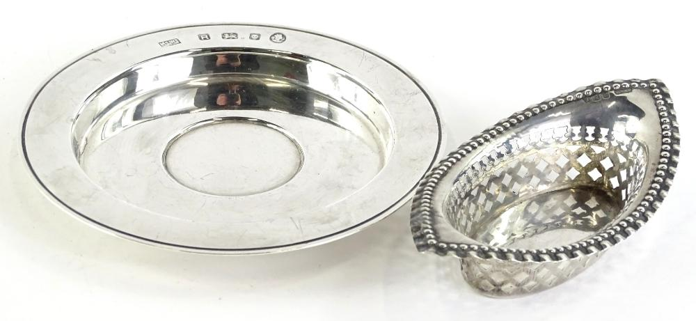 An Elizabeth II silver Armada type dish, by Mappin and Webb, of small...