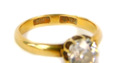An 18ct gold diamond solitaire ring, set with a single diamond of approximately 1.1carat, ring size N ½. - 3