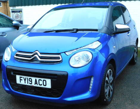 A Citroen C1 hatchback, 1.0 VTi 72 Flair 5dr ETG Registration FY19 ACO, only 103 miles recorded, blue, automatic, petrol, first registered 6th March 2019 To be sold upon instructions from the executors of Ann Close (Dec'd)