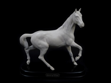 A Royal Doulton equestrian figure modelled as Spirit Of Wind, raised on an oval base, printed mark.