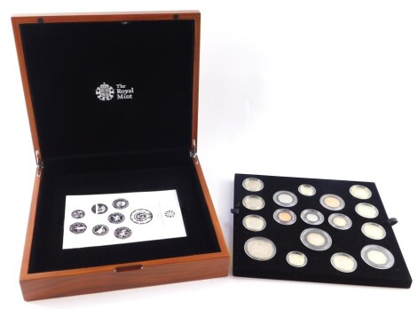 A Royal Mint United Kingdom 2016 Premium Proof coin set, cased and boxed, with certificate.