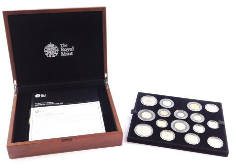 A Royal Mint United Kingdom 2013 Premium Proof Coin set, cased and boxed, with certificate.