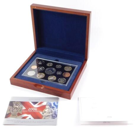 A Royal Mint United Kingdom Executive Proof Coin Set 2006, with certificate, No 3004, cased.