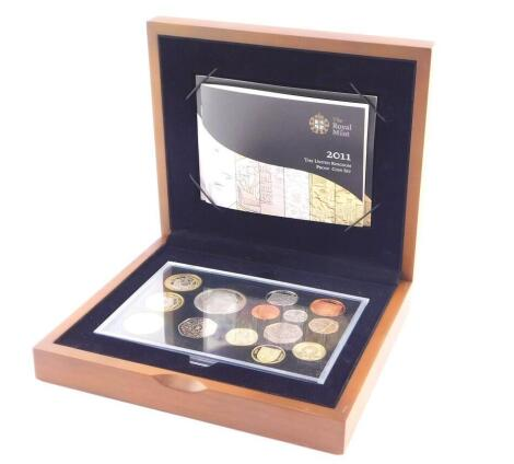 A Royal Mint United Kingdom Executive Proof Coin Set 2011, with certificate No 0005, cased.