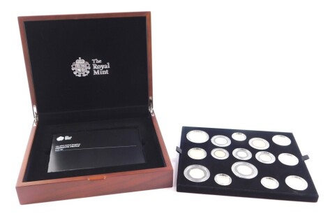 A Royal Mint United Kingdom 2014 Premium Proof Coin Set, with certificate, cased and boxed.
