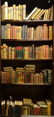 Bindings. - a quantity of English bindings, some sets, many individual, full leather, half leather, 8vo and small 4to. (qty)