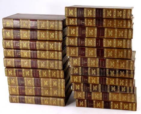 Binding. - [Charles-Antoine-Guillaume Pigault de l;Espinoy] {igault-Lebrun OEUVRES COMPLETES 20 vol, half-titles, engraved frontispiece vol. 1, fine speckled calf, tooled in gilt, spine gilt, morocco spine label, ivo, Paris, 1822-24.