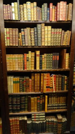 Bindings. - a quantity of English bindings, some sets, many individual, including a few Bentley triple-deckers, full leather, half-leather, 8vo and small 4to. (qty)