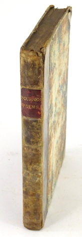 Bourne (Vincent) MISCELLANEOUS POEMS, contemporary half calf over patterned boards, worn, 4to, W. Ginger, 1772.