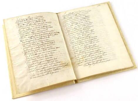 Ms.- A 24pp. ms. poem in cursive script, dated 1653, bound in later vellum.
