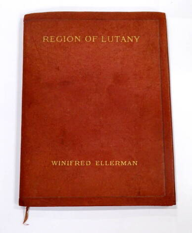 Bryher (Winifred Ellerman) . Region of Lutany FIRST EDITION, contemporary calf, 8vo, 1914.