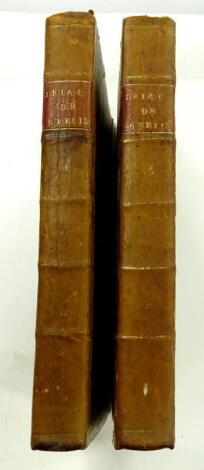 Mirabeau (Honoré Gabriel Riquetti, Comte de) Histoire Secrète De La Cour De Berlin, ou Correspondance D'un Voyageur François, 2 vol., contemporary half calf over marbled boards, 8vo, 1786-87.