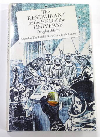 Adam's (Douglas) The Restaurant at the End of the Universe FIRST EDITION original publisher's boards, dust-jacket, 8vo,1980.