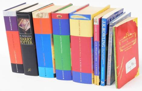 Rowling (J.K). Harry Potter hardback editions, The Goblet of Fire First Edition, Half Blood Prince First Edition, various paperbacks, to include Philosophers Stone, etc. (a quantity)