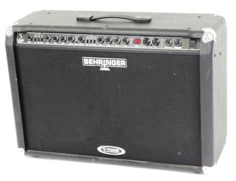 A Behringer B tone amplifier, 0510 numbered 12G70J8, 50cm high, 69cm wide, 26cm deep. (lacking back)