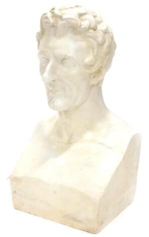 Louis Parfait Merlieux (1796-1855). Marble bust of a gentleman, dated 1829, restoration to nose, etc., 67cm high, 36cm wide. Louis Parfait Merlieux trained at Ecloe des Beaux Arts, Paris, he joined the museum de l'Histoire Naturale Paris in 1820, where he