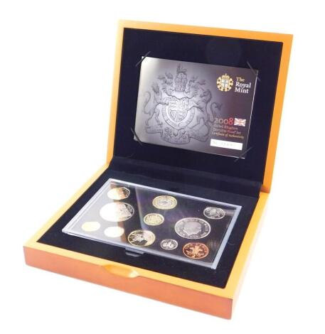 A Royal Mint United Kingdom 2008 Premium Proof Coin Set, cased and boxed, with certificate.