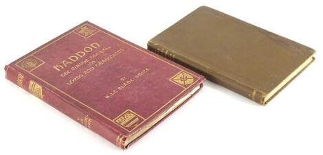 Blanc-Smith (G.le) Haddon the Manor, The Hall, Its Lord and traditions, 1906 § Jacks (Leonard) The Great Houses of Nottinghamshire and the County Families, Nottingham, 1881, publisher's cloth, 4to & 8vo. (2)