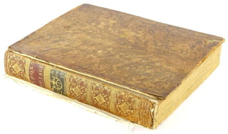 Cook (James. Capt.) A VOYAGE TOWARDS THE SOUTH POLE AND AROUND THE WORLD ... vol 2 only (of 2), 27 folding engraved maps and plates, bookplate on front pastedown, contamporary tree calf, boards detached, spine gilt, morocco spine labels, 4to, W. Strahan &