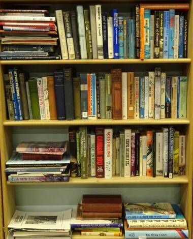 First World War and later aviation, RAF, Lewis (Wing Commander Gwilym, DFC), Wings Over the Somme, War Birds (Diary of an Unknown Aviator), and other similar books, etc. (4 shelves plus)