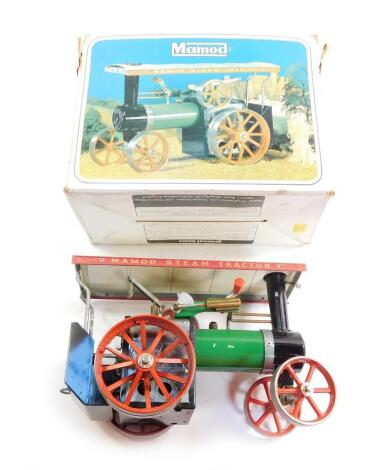 A Mamod steam traction engine, TE1A, boxed.