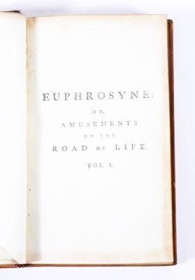 [Graves] EUPHROSYNE: OR AMUSEMENTS ON THE ROAD OF LIFE... 2 vol., half-titles, engraved frontispieces, contemporary calf, 8vo, J. Dodsley, 1783. - 2