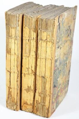 Hooper (W.) RATIONAL RECREATIONS IN WHICH THE PRINCIPLES OF NUMBERS AND NATURAL PHILOSOPHY ARE CLEARLY...ELUCIDATED second edition, 3 vol., engraved plates, many folding, contemporary calf-backed boards, spines worn, 8vo, L. Davis & J. Robson, 1783.