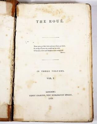 [Beazley] THE ROUÉ 3 vol., contemporary half calf, spines worn, 8vo, 1828. - 2
