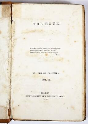 [Beazley] THE ROUÉ 3 vol., contemporary half calf, spines worn, 8vo, 1828. - 4