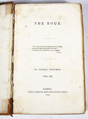 [Beazley] THE ROUÉ 3 vol., contemporary half calf, spines worn, 8vo, 1828. - 6