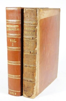 Froissart (John, Sir) CHRONICLES 2 vol., woodcut vignettes, contemporary Morocco, spines rebacked, large 4to, 1812.