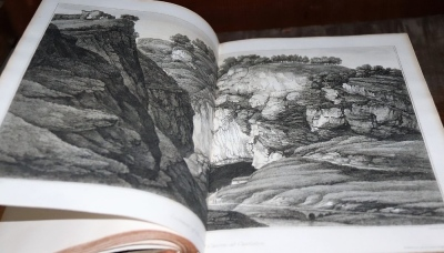 Lysons (Daniel) MAGNA BRITANNIA... 6 vol. in 8, engraved plates throughout, contemporary half calf over patterned boards, folio, T. Cadell & W. Davies,1806-22. - 7