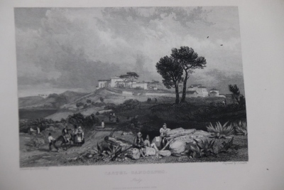 Roscoe (T.) VIEWS OF CITIES AND SCENERY IN ITALY, FRANCE AND SWITZERLAND 3 vol., additional engraved titles, engraved plates, tissue-guards, contemporary half calf over patterned boards, 4to, n.d. [c.1830] - 9